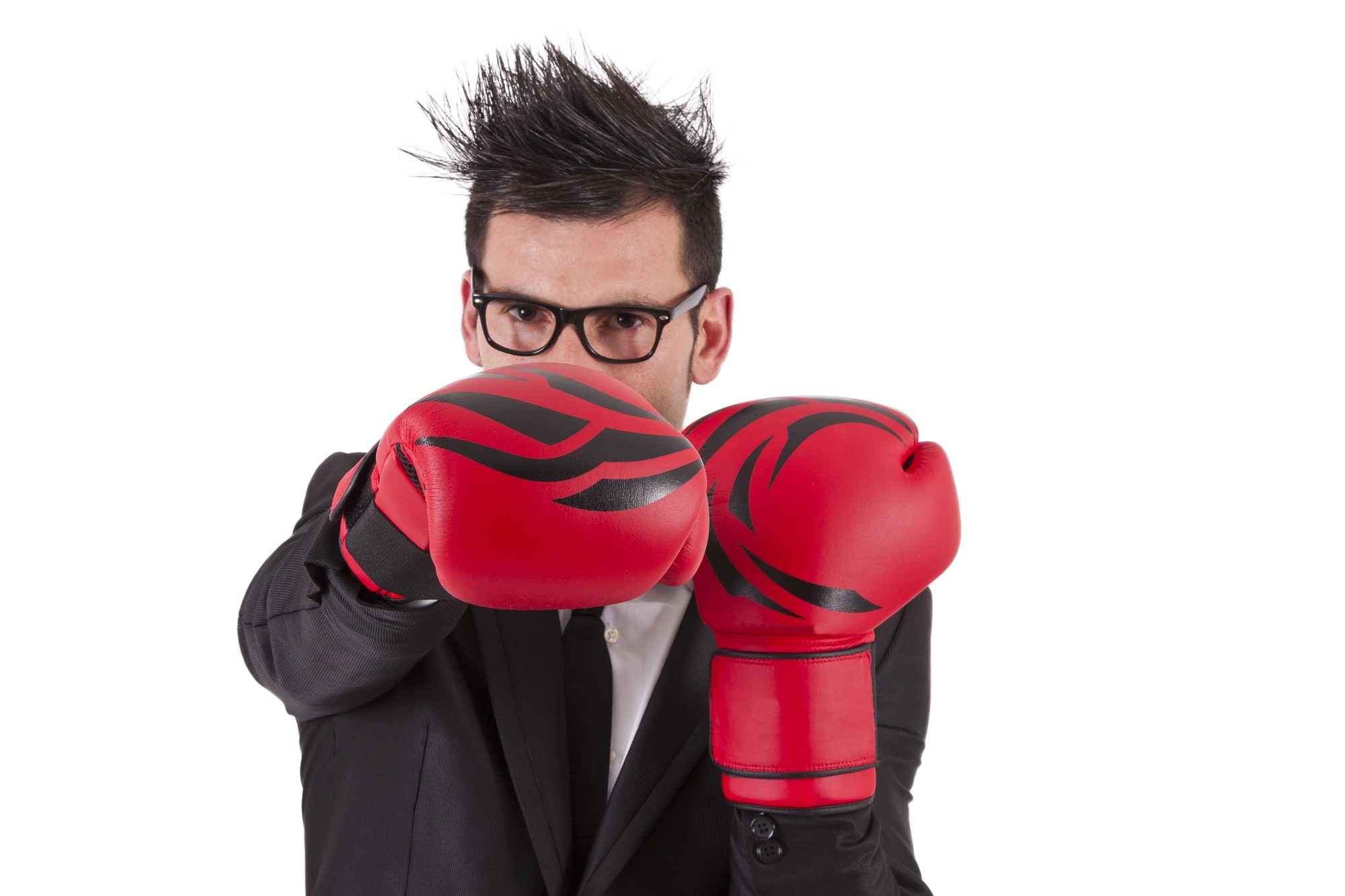 boxing with glasses